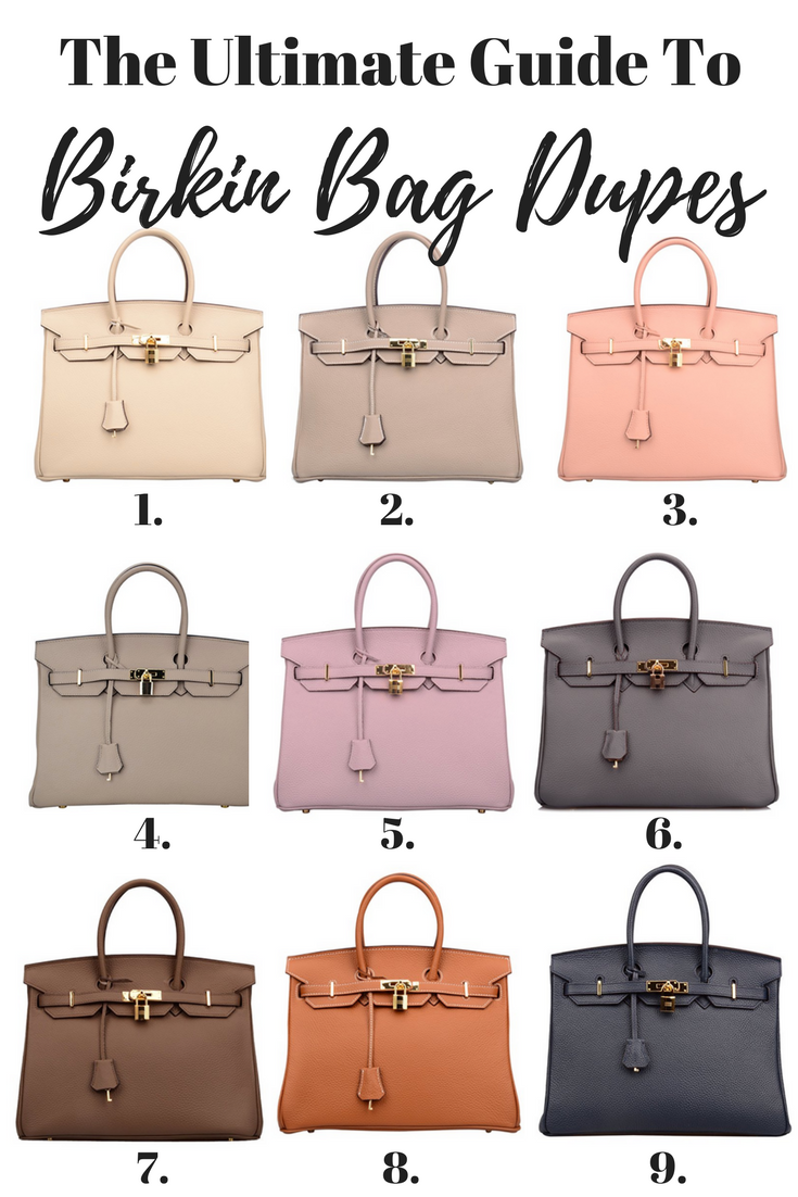 Birkin Inspired Handbags - Your Ultimate Guide To Hermes Bag Dupes | Hermes Birkin Replica | Birkin Bag Replica