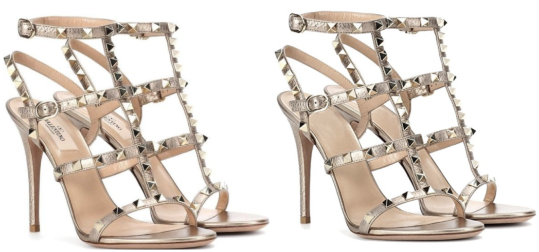 Golden Metallic Valentino Rockstud Gladiator Dupes