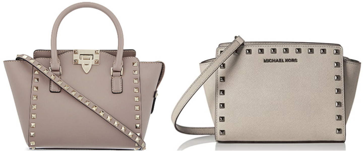 Grey Valentino Rockstud Mini Tote Dupe | Valentino Dupes, Valentino Bag Dupes
