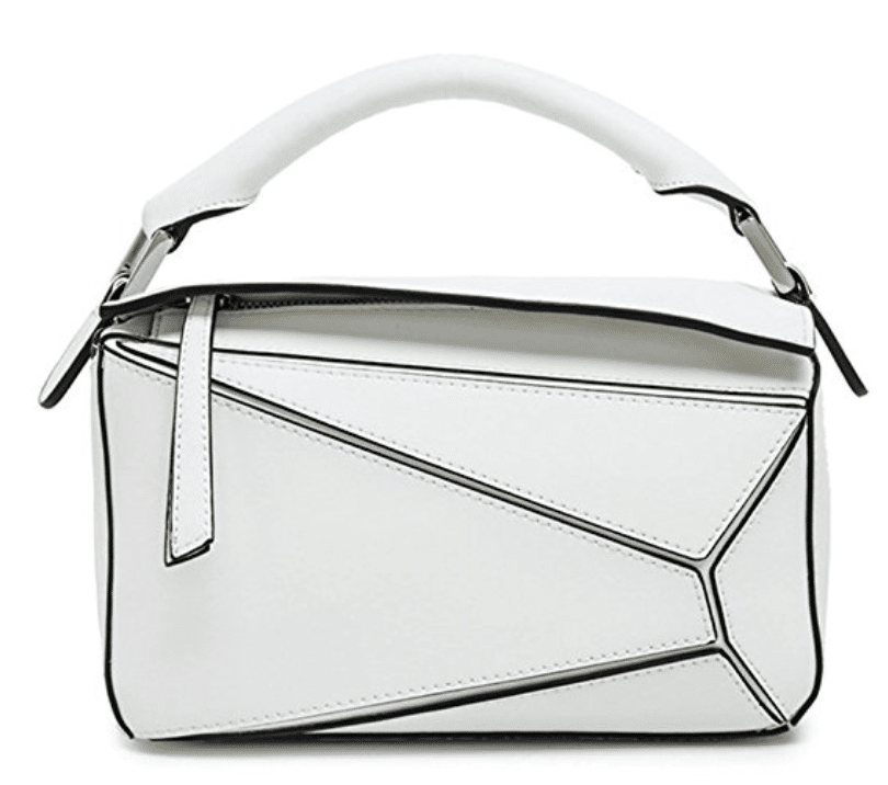 white loewe puzzle bag dupe