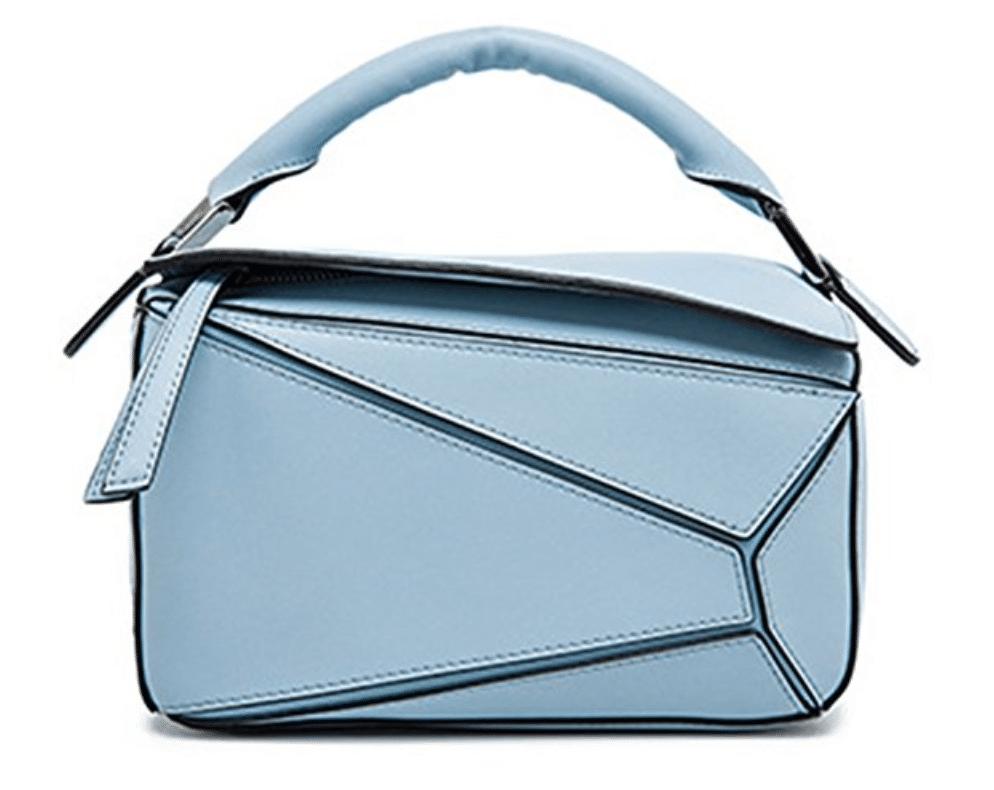 blue loewe puzzle bag dupe