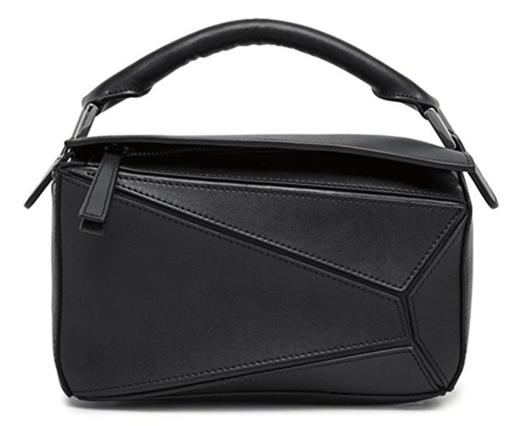 black loewe puzzle bag dupe