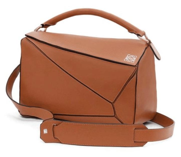 tan loewe puzzle bag