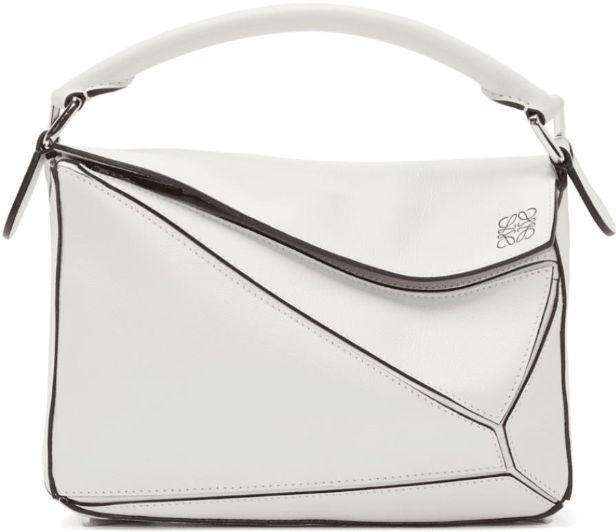 white loewe puzzle bag