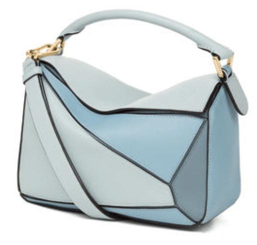 blue loewe puzzle bag