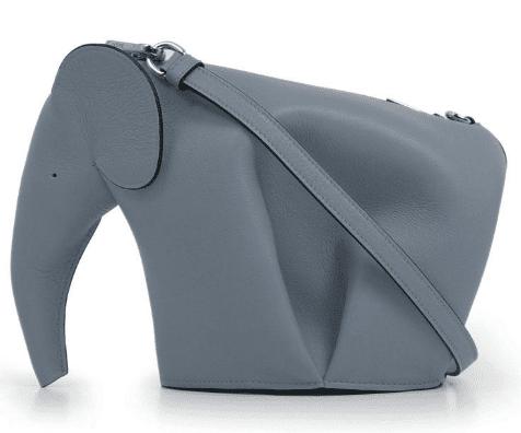 grey loewe elephant bag