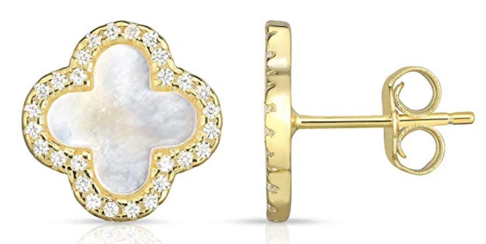 gold Van Cleef Look Alike Earrings