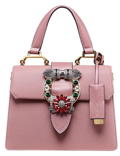 pink miu miu lady dupe with handle, miu miu bag dupes