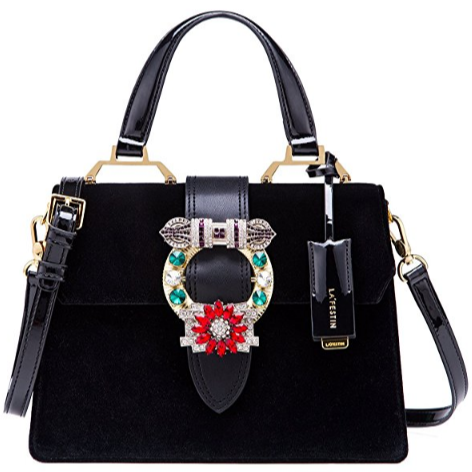 black velvet miu miu lady dupe with handle, miu miu bag dupes