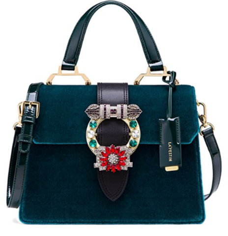 green velvet miu miu lady dupe with handle, miu miu bag dupes