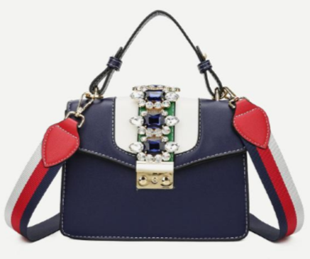 blue miu miu inspired rhinestone bag, miu miu lady dupe with handle, miu miu bag dupes