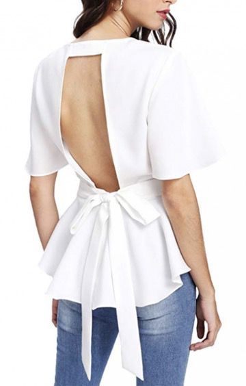 50 Best Amazon Clothing Finds & Outfits For Women - White Backless Top. This is where to shop for cheap items that look expensive! We've compiled a list of the best boots, shoes, bags, designer dupes, dresses, coats and cardigans for both the summer and winter seasons.