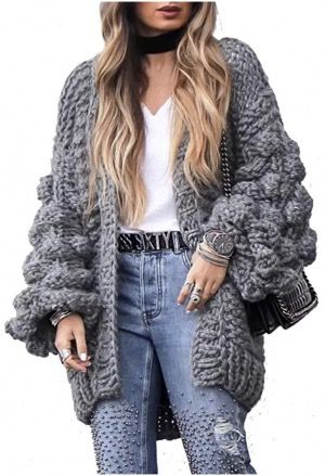 50 Best Amazon Clothing Finds & Outfits For Women - Bubble Sleeve Cardigan Grey. This is where to shop for cheap items that look expensive! We've compiled a list of the best boots, shoes, bags, designer dupes, dresses, coats and cardigans for both the summer and winter seasons.