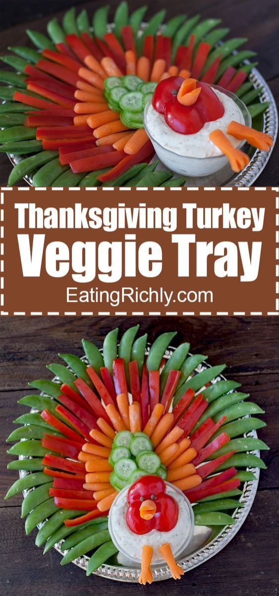 15 Drool Worthy Thanksgiving recipes for your dinner party! Explore vegetarian and vegan Thanksgiving appetizers and finger foods, like this Thanksgiving platter for kids. Click to get more cooking inspiration for Thanksgiving food, side dishes and find some stuffing recipes for Thanksgiving. #thanksgivingrecipes #thanksgivingappetizers #thanksgivingfingerfoods