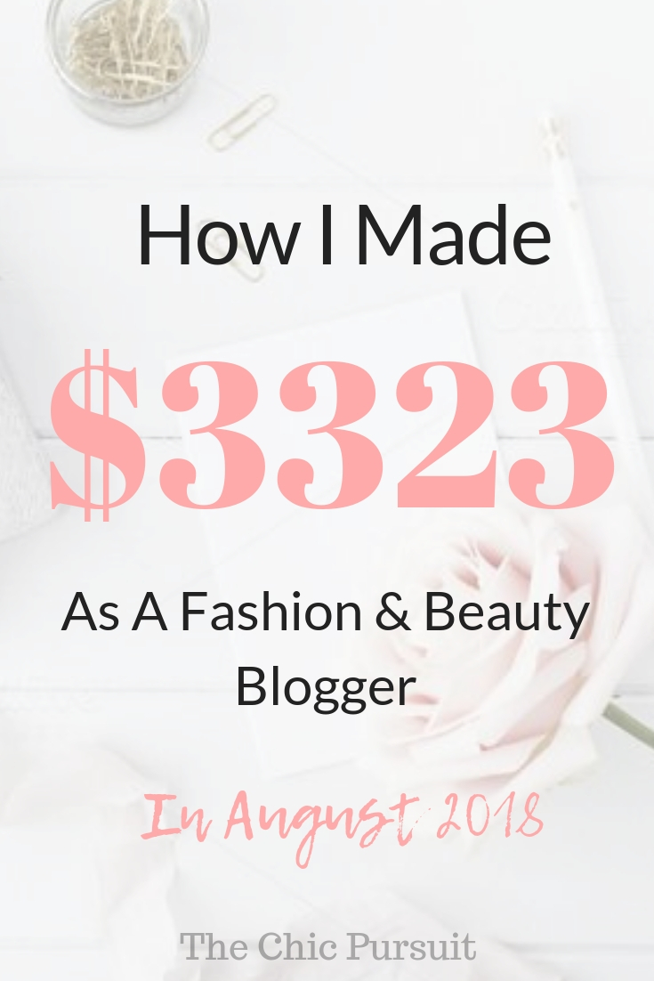 August Income Report – $3323