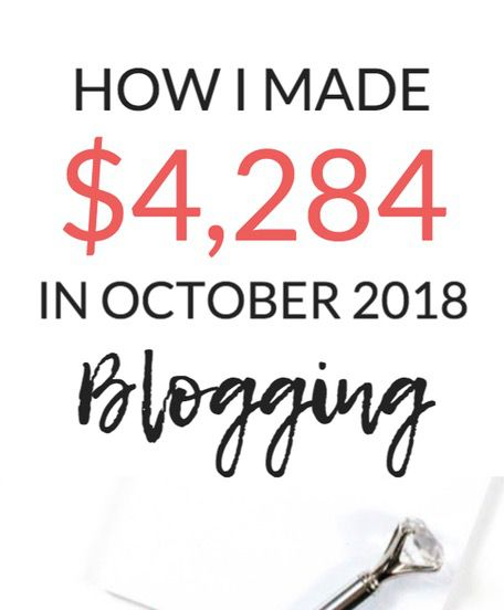 How I Made $4,284 Blogging In October