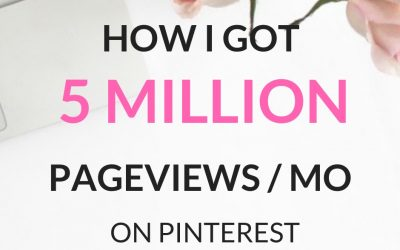 How I Got 5 Million Pageviews On Pinterest With Little Effort